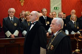 Ha actuado como padrino del nuevo siacl general del Estado el teniente fiscal del Tribunal Supremo, Luis Navajas Ramos