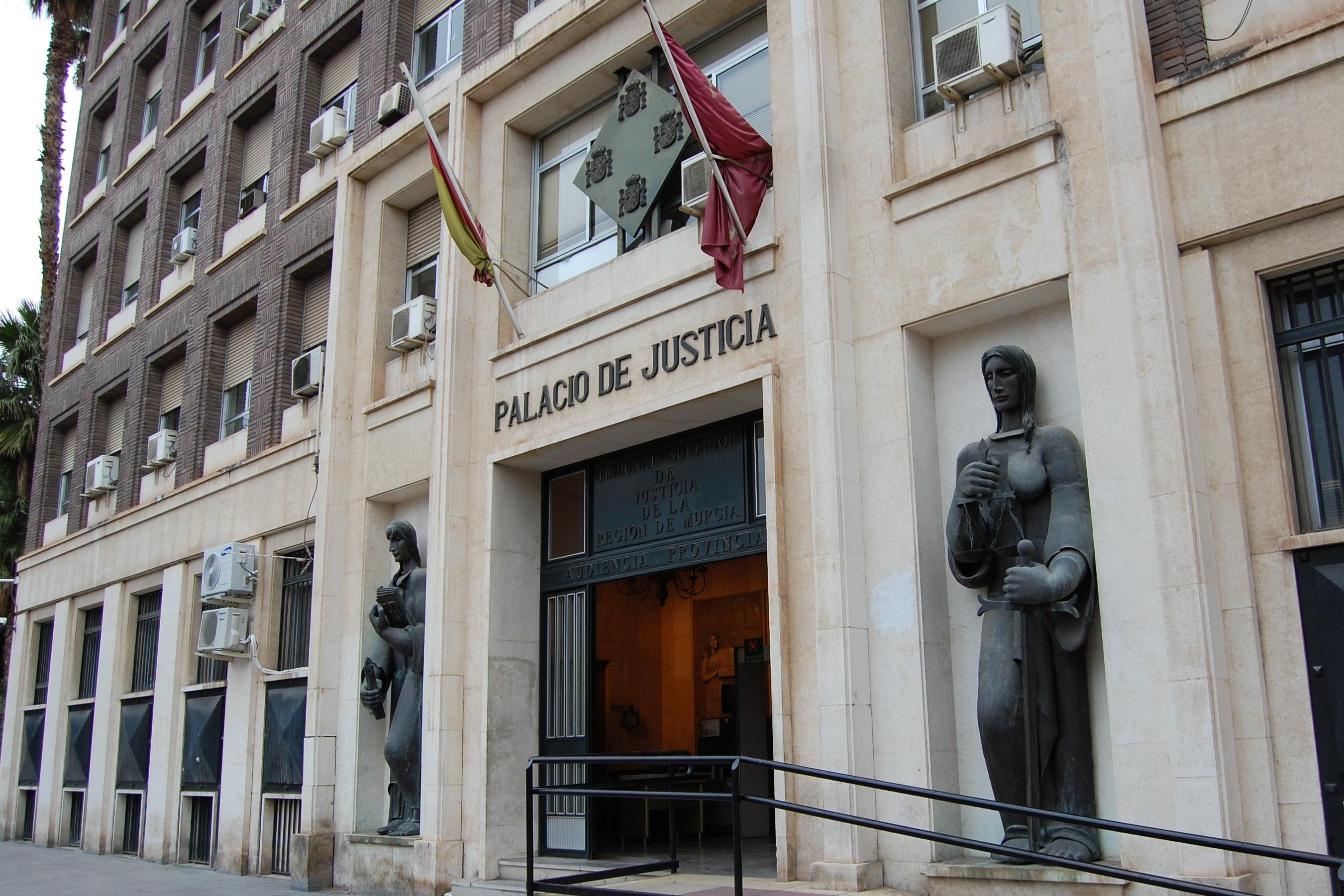 Fachada sede Juzgados en Murcia